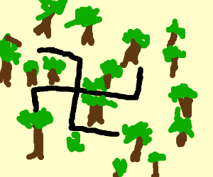 nazi in a forest