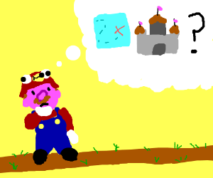 Mario doesn't know the way to the castle