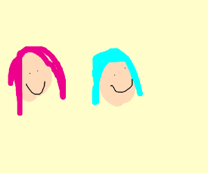 People with diff hair colours