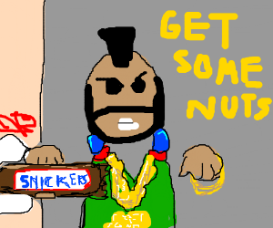 snickers- get some nuts