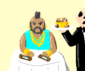Mr T gets some nuts n snickers