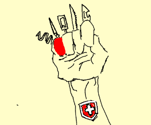Swiss army hand