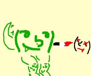 Reptilian Lenny kills Lenny