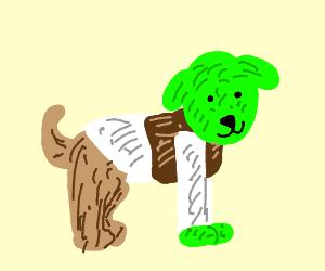 Shrek transforms into a dog