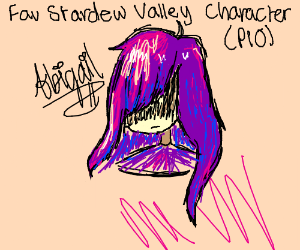 Fav Stardew Valley character (PIO) (Sebastian) - Drawception
