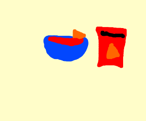Doritos and salsa
