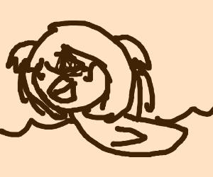 Natsuki as a duck