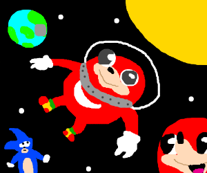 uganda knuckles in space