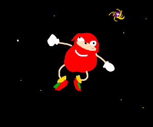 Ugandan Knuckles in space