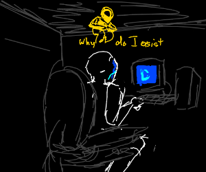 Guy has existential crisis playing Drawception