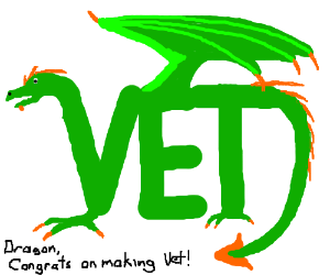 dragon has leveled up and is a vet!