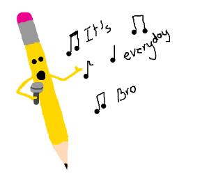 Pencil sings Jake Paul song