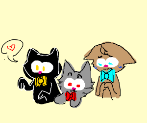 Group of kittens wearing bowties