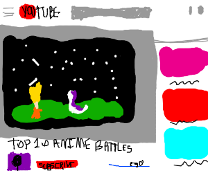 top ten anime battles video