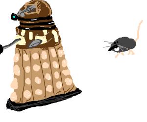 Rat pursuing a Dalek