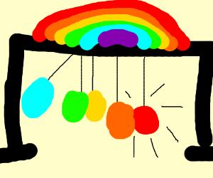 rainbow newton's cradle