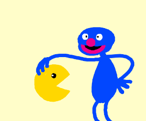 Pac-Man on Sesame Street