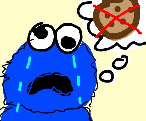 cookie monster but with no cookies