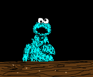 the cookie monster has no more cookies