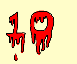 Bloody Number 10 Drawing By Starrmechs Drawception