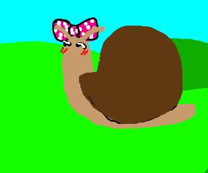 cute snail girl