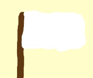 A white flag