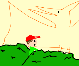 boy finds pterodactyl