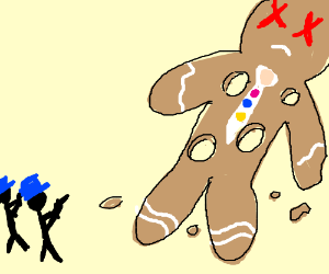 Gingerbread man gets shot to crumbs