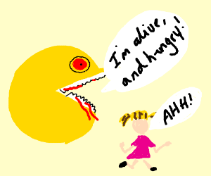 pac man grows sentient and eats children