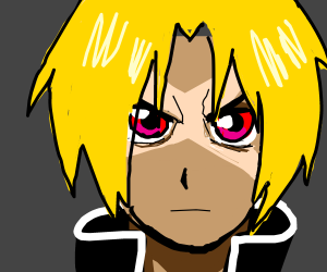 Edward Elric with a scar on his face