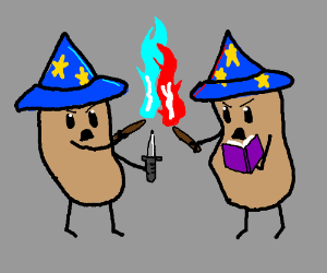 witch mixing potions drawception