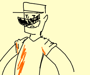 Red Scout TF2 with mario mustache.