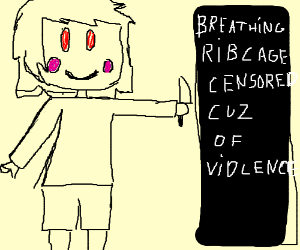 playing a KNIFE on a BREATHING RIBCAGE