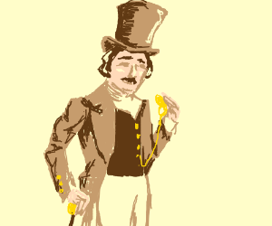 Victorian Gentleman in Stovepipe Hat
