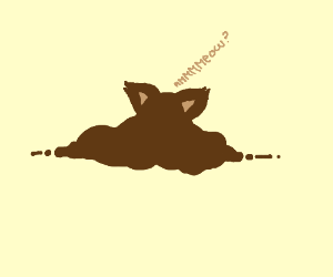 Draw A Brown Blob With Cat Ears