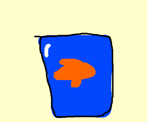 fish in a water glass