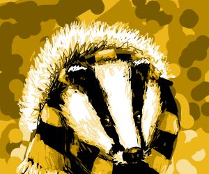A cold badger