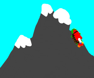 Rocket Turtle Climbs a Mountain