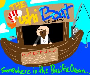 Sushi Boat At Sea