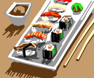 Sushi, or some Japanese food