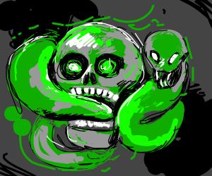 skull eating snek