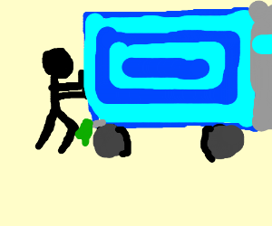 Push a moving truck!!!