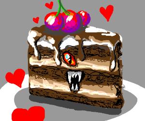 Actually Demonic Devil's Food Cake
