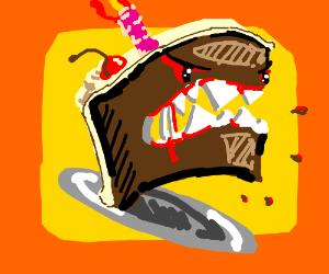Evil chocolate cake