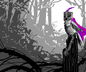 Purple-Caped Bird Knight