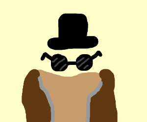 invisible man wearing hat, glasses, and coat