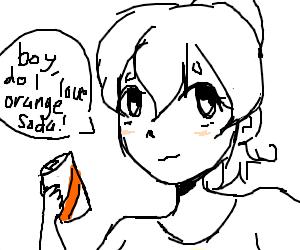 girl that loves orange soda