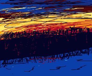 Scenic Lake Sunset