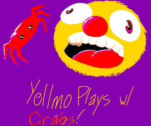 Yellmo Playing with Crabs