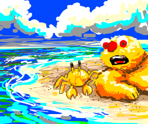Yellmo Makes A New Crab Friend